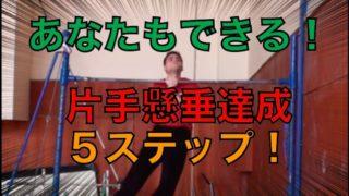 片手懸垂をするための最強5ステップ!両手懸垂とは全く別物と心得よ!